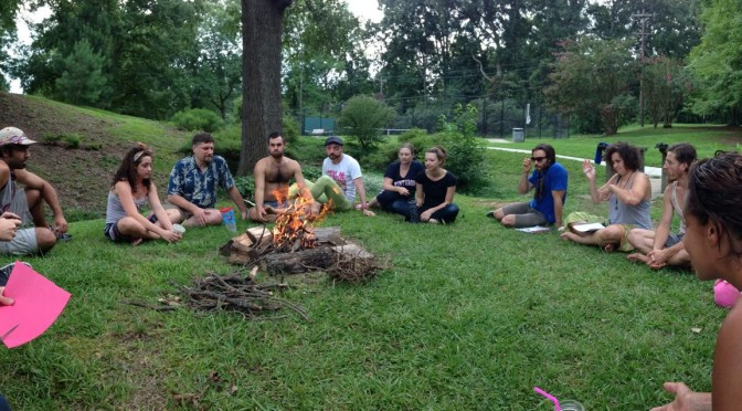 Closing Circle at the end of ALF Summer 2014
